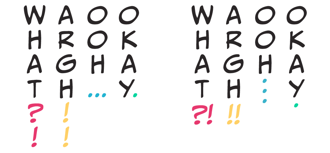 Vertical Punctuation